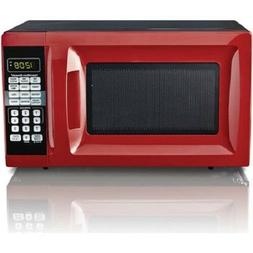 Hamilton Beach 0.7 Cu. Ft. Red Microwave Oven, For Small Kit