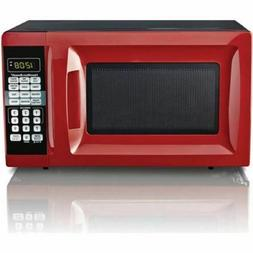 Hamilton Beach 0.7 Cu.Ft. Red Microwave Oven DormRoom Counte