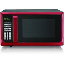 Hamilton Beach 0.7 Cu. Ft. Red White Black Microwave Oven FR