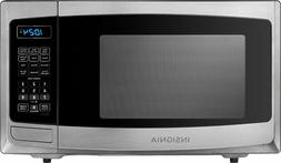 Insignia - 0.9 Cu. Ft. Compact Microwave - Stainless steel,