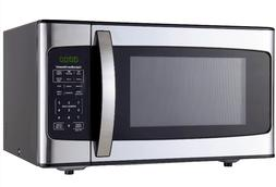 1 1 cu ft 1000w black stainless