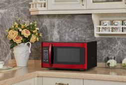 Hamilton Beach 1.1Cu.Ft. Red Microwave Oven 10 power levels