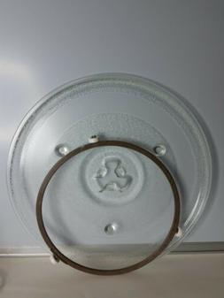 """Hamilton Beach 10 5/8"""" Microwave Glass Plate W/Ring & Stand"""