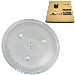 HQRP 12-3/8 inch Glass Turntable Tray for Frigidaire 5304472