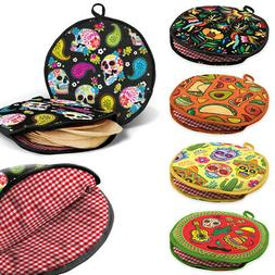 """12"""" Color Insulated Tortilla Warmer Microwave Stove Fabric P"""
