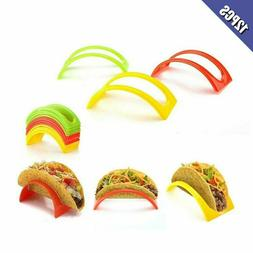 12 Pcs Colorful Taco Holder Stand For Soft  Hard Shell Taco