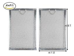 2 Pack Grease Filter WB06X10359 Replacement For Many GE Micr