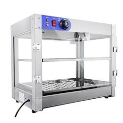 2 Tier Commercial Countertop Food Pizza Warmer 750W 24x20x15