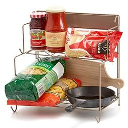 2-Tier Foldable Kitchen Rack, EZOWare Collapsible Storage Or