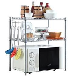 2 Tier Microwave Oven Rack Small House Kitchen Counter Extra