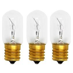 3-Pack Replacement Light Bulb for Maytag MMV5208WS1 Microwav