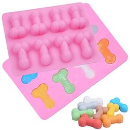 3D Penis Ice Cube Mold,Food Grade Silicone Ice cube Tray,