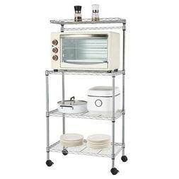 4 Layer Adjustable Kitchen Bakers Rack Shelf Microwave Oven