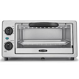 BELLA 4 Slice Countertop Toaster Oven, 1000 Watt Quartz Elem