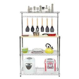 4-Tier Kitchen Bakers Rack Home Dining Microwave Stand Stora