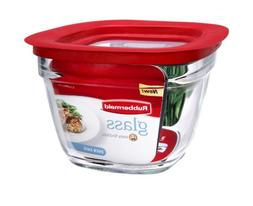 Rubbermaid Food Storage Container Freezer, Glass 5.5 Cup Squ