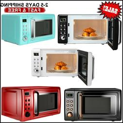 700W Auto Reminder Oven 360° Glass Turntable Countertop Mic