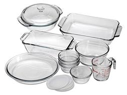Anchor Hocking Oven Basics 15-Piece Glass Bakeware Set with