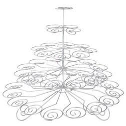 Creative Home 5-Tier Chrome Plated Finish Cupcake Stand, Sil
