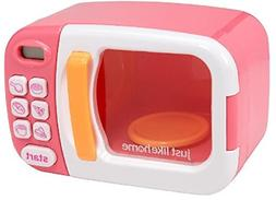 Just Like Home Microwave - Pink with Play Food