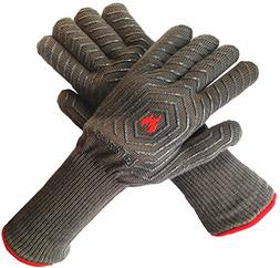 LaTazas Extreme Heat Resistant Grill Oven Mitts, Hot 932°F