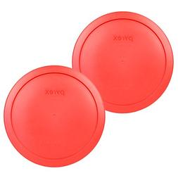 Pyrex 7402-PC Red Round Storage Replacement Lid Cover fits 6
