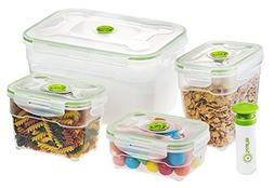 Seal'In Nestable Food Storage Vacuum Containers - Set of 4 -