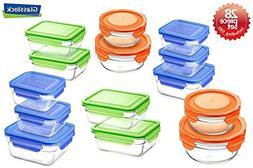 Glasslock Airtight Spill Proof Food Storage Containers 28pc