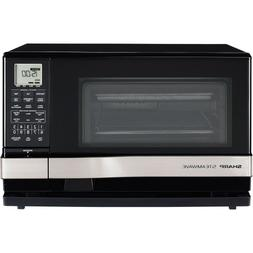 Sharp Steamwave Oven, Black Cabinet With Silver Handle - Sin