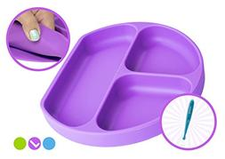Babiere Silicone Toddler Plate – Powerful Suction Base Sta