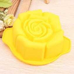 Bakeware & Accessories - Rose Shape Silicone Cake Pan Mold B