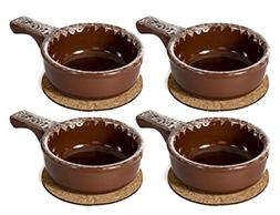 Baking Serving Onion Soup 14 Ounce Bowls with Handles - Set