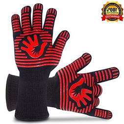 BBQ Gloves Grill Gloves Oven Gloves 932°F Extreme Heat Resi