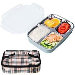 Bento Box for Kids Adults Compartment Stainless Steel Lunch