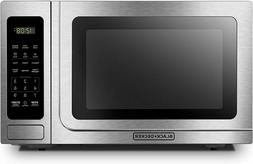 BLACK+DECKER Digital Microwave Oven with Turntable Push-Butt