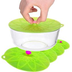 Kuke Silicone Suction Lids Food Bowl Covers microwaves, Pots