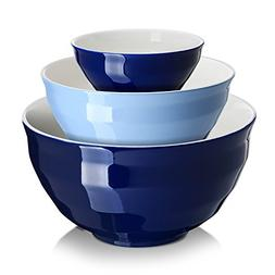 DOWAN Ceramic Mixing Bowls/Serving Bowl Set, Non-slip soft c