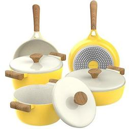 Vremi 8 Piece Ceramic Nonstick Cookware Set - Induction Stov