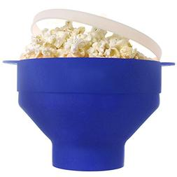 Myka's Collapsible Microwave Popcorn Popper with Handles BPA