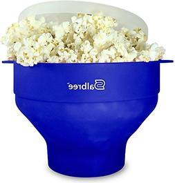 Salbree Collapsible Silicone Microwave Popcorn Popper, Blue