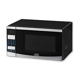 Oster  0.7 Cu. Ft. Compact Microwave - Stainless-steel/black