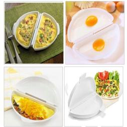 Cooker Microwave Omelet Pan Kitchen Home Tool Egg Poachers O