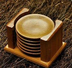 Mintbon Drink Coasters Bamboo Collection 6-Piece Coaster Set