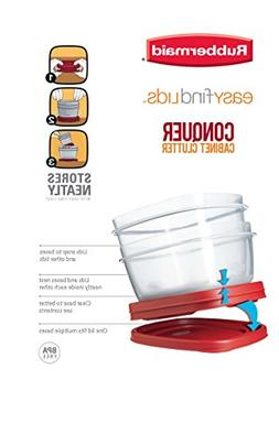 Rubbermaid 7J60 608866902607 Easy Find Lids Square 2-Cup Foo