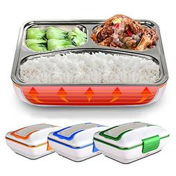 LUCKSTAR Electric Heating Lunch Box - Portable Removable 3-C