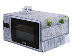 Elegant Microwave Oven Dust Cover Dustproof Cloths with Pock
