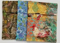 Embroidered Microwave Baked Potato Bags - 100% Cotton Fabric
