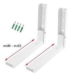 Spares2go Extendable Wall Mounting Brackets for Bosch Microw