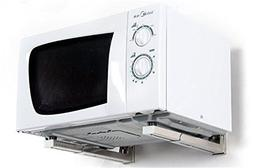 New Foldable White Shelf Rack for Microwave Oven Wall Mount