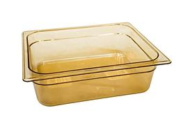 Rubbermaid Commercial Hot Food Pan, 1/2 Size, Amber, FG224P0